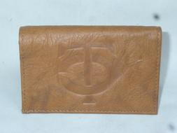 MINNESOTA TWINS   Leather TriFold Wallet  NEW  br1  --sd