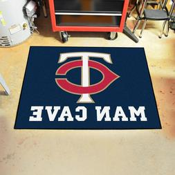 "Minnesota Twins Man Cave 34"" x 43"" All Star Area Rug Floor M"