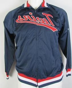 Minnesota Twins Stitches Men's Full Zip Track Jacket Navy Bl