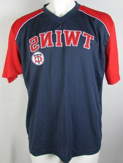 Minnesota Twins Stitches Men's Navy Baseball T-Shirt MLB S,