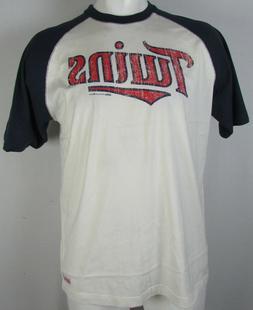 Minnesota Twins Stitches Men's White Baseball T-Shirt MLB L-