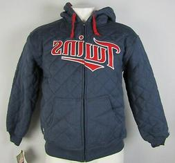Minnesota Twins MLB Stitches Men's Quilted Navy Blue Full-Zi