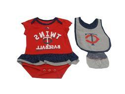 Minnesota Twins MLB Majestic Baby Infant Girls 3 Piece Creep