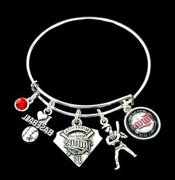 Minnesota Twins MLB Baseball Charm Team Logo Bracelet Jewelr