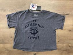 Under Armour Minnesota Twins MLB Crop Top Youth Girls Shirt