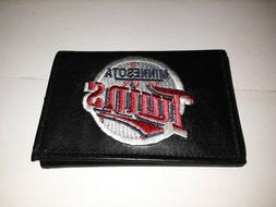 Minnesota Twins MLB Embroidered Leather Trifold Wallet
