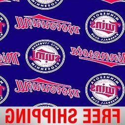 "Minnesota Twins MLB Fleece Fabric - 58-60"" Wide - Style# 661"