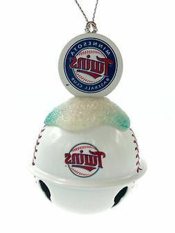 MINNESOTA TWINS MLB Metal Baseball Bell Ornament