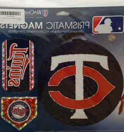 "Minnesota Twins MLB Prismatic Magnet Sheet Hologram 11x11"" s"