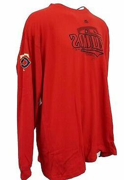 Minnesota Twins Majestic MLB Red Long Sleeve T-Shirt, Men's