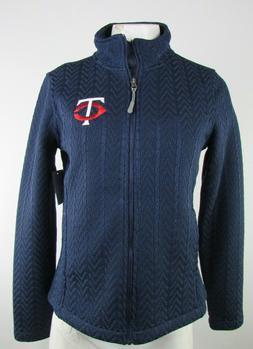 Minnesota Twins MLB Women's G-III Navy Full-Zip Sweater