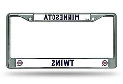 Minnesota Twins New Design Chrome Frame Metal License Plate