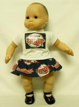 Minnesota Twins Outfit For 16 Inch Doll