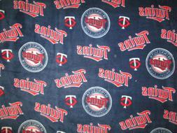 MINNESOTA TWINS OVERALL MLB BASEBALL FLEECE FABRIC