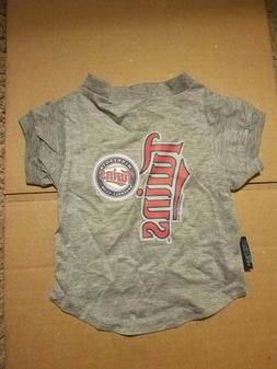 Minnesota Twins Pet Jersey Gray M Med, MLB Licensed, New Wit