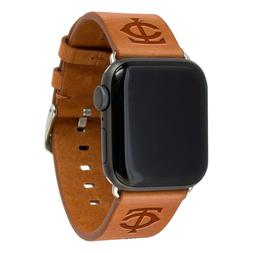 Minnesota Twins Premium Leather Apple Compatible Watch Band