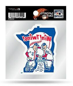 Minnesota Twins Retro Logo Premium 4x4 Decal Vinyl Auto Home