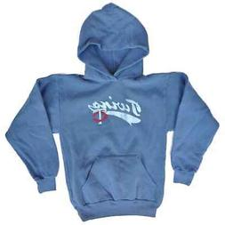 Minnesota Twins SAAG Youth Boys Blue Gray Pullover Hoodie Sw