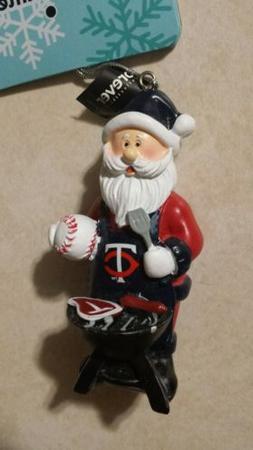 Minnesota Twins Santa Grill Team Ornament - MLB- New!