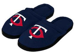 Minnesota Twins Slippers Black Rubber Sole Mens by Forever C