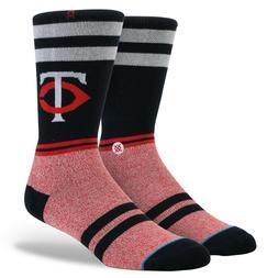 Minnesota Twins TC Stance MLB Diamond Collection Socks Large