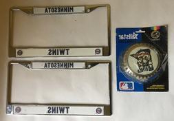 Minnesota Twins Vintage License Plate Metal Frames and Car E