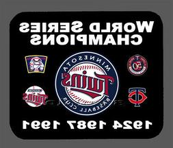 Minnesota Twins World Series Championship Banner Mouse Pad I