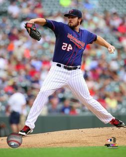 MLB Baseball Phil Hughes Minnesota Twins Framed Photo Pictur