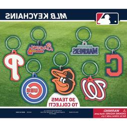 MLB BASEBALL TEAM LOGO 2D KEYCHAIN