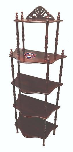 MLB Bookshelf or Display Shelf in a Cherry Finish with Baseb
