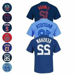 MLB Current & Retired Team Player Name & # Jersey T-Shirt Co