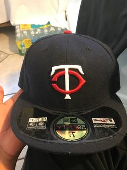 mlb fitted hats 7 1/2 Minnesota twins brand new official on