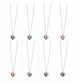 MLB Glitter Heart Necklace - Pick Your Team
