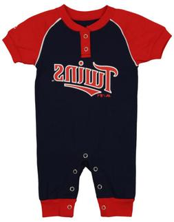 """Majestic MLB Infant Minnesota Twins """"Game Time"""" Coverall"""