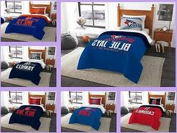 MLB Licensed 2 Piece Twin Comforter & Sham Bed Set In A Bag