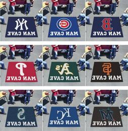 MLB Man Cave Area Rugs 5' x 6' Tailgater All Teams