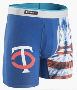 STANCE MLB MINNESOTA TWINS Basilone Boxer Brief Tie Dye ~ Sz