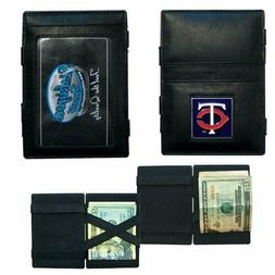 MLB MINNESOTA TWINS JACOB'S LADDER STYLE LEATHER WALLET NEW