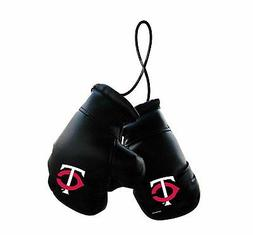 "MLB Minnesota Twins Logo 4"" Mini Boxing Gloves Rearview Mirr"