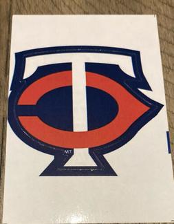 MLB Minnesota Twins Logo Baseball Indoor Decal Sticker Free