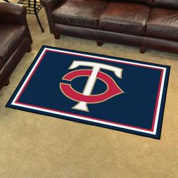FANMATS MLB Minnesota Twins Nylon Face 4X6 Plush Rug