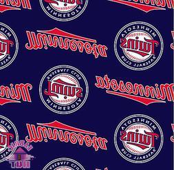 MLB Minnesota Twins Plaid Fleece Fabric 6615 B