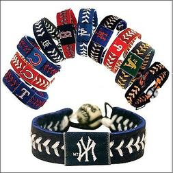 MLB -Team Color Leather Baseball Bracelet - Pick Team