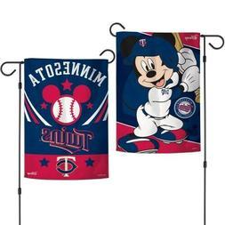 New Disney Mickey Mouse Minnesota Twins  MLB 2 Sided 12.5 X