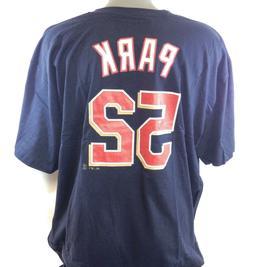 NEW Mens Majestic Minnesota Twins Byung Ho Park #52 MLB Navy