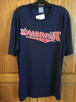 New With Tags Mens Minnesota Twins Navy Blue Dry Fit T-shirt