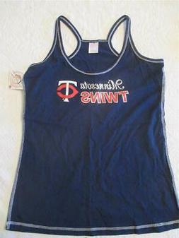 NWT Minnesota Twins Tank Shirt Womens Size XL Metallic Baseb