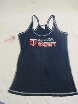NWT MLB Minnesota Twins Tank Shirt Womens size M Metallic Ba