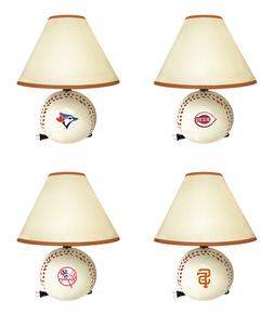 MLB  Desk Lamp Baseball Shape with Team Logo Decal Kid's Roo