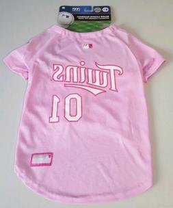 Pink MLB Minnesota Twins Pet Jersey - Dog Size Large